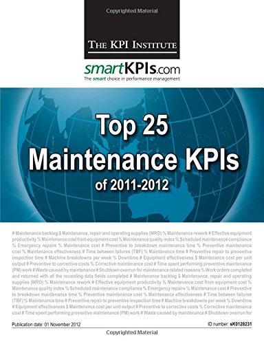 Top 25 Maintenance KPIs of 2011-2012
