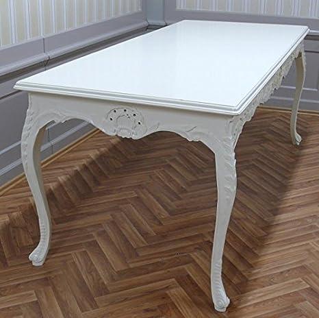 Table baroque en bois rectangulaire style antique Louis XV NkTa0690Hz