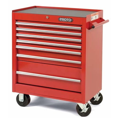 Stanley Proto J442735-7RD 440SS 27-Inch Roller Cabinet, 7 Drawer, Red (Stanley Garage Cabinets compare prices)