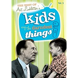 The Best of Kids Say the Darndest Things, Vol. 3 (1952-1969)