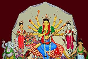 Amazon.com: DollsofIndia Buddhist Style Devi Durga - Photographic
