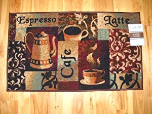 Espresso Cafe Latte Coffee Kitchen Throw Rug