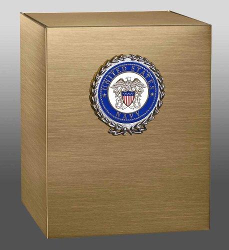 Sheet Bronze Cube With U.S. Navy Wreath Medallion