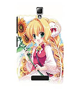 PrintDhaba Cute Girl D-5129 Back Case Cover for LENOVO A2010 (Multi-Coloured)