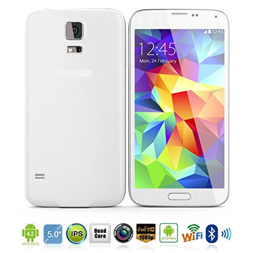 """Itrendz(Tm) White 5.0"""" Ips 3G Smart Phone Android 4.2 Mt6582M 1.3 Ghz Quad Core Ram 512Mb Rom 4G Dual Sim Cards Dual Standby With Dual Camera Support 1080P/Wi-Fi"""