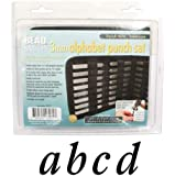 27 Piece Lowercase Stylish Italic Alphabet Letters A-Z Punch Set For Metal 3mm