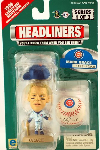 Buy Low Price Equity Sports 1999 – Equity – Headliners – Series 1 of 3 – Mark Grace – Chicago Cubs – #131 of 7,000 – Figure w/ Cap & Baseball w/ Facsimile Autograph – RARE – 3 Inch Figure – Limited Edition – Collectible (B002HJF1Z6)