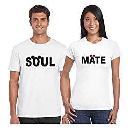 Couple Gifts, TYYC Soulmate Mickey Minnie Couple T shirts for Men and Women - Set of 2, Wedding Gifts, Romantic gifts, Anniversary Gifts