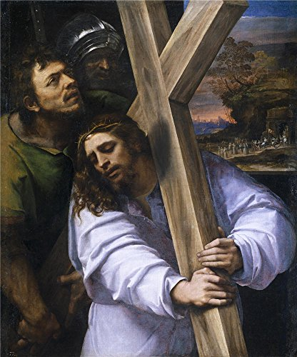 Oil Painting 'Piombo Sebastiano Del Jesus Carrying The Cross Ca. 1516' 16 x 19 inch / 41 x 49 cm , on High Definition HD canvas prints is for Gifts And Foyer, Gym And Home Office Decoration (Tarot Cheat Sheet compare prices)
