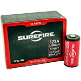 Surefire 12 Pack Boxed 123A Lithium Batteries