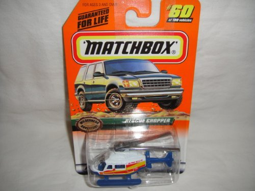 MATCHBOX #60 OF 100 WILDERNESS ADVENTURE SERIES RESCUE CHOPPER DIE-CAST COLLECTIBLE - 1