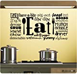Eat Tasty Breakfast Lunch Kitchen Wall Decal Sticker Art Mural Home Décor Quote