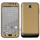"""atFoliX Designfolie """"FX-Carbon-Gold"""" f�r Samsung Ativ S (GT-I8750) - ohne Displayschutzfolievon """"Designfolien@FoliX"""""""