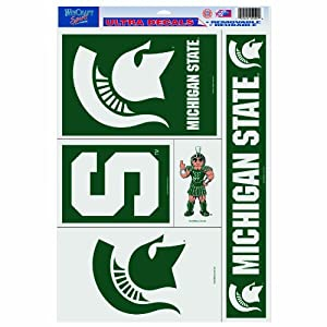 Buy NCAA Michigan State Spartans 11-by-17 Ultra Decal Multiple Designs by WinCraft