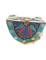 Nakkashee Rajasthan Latest Handcrafted Stone Semicircle Sling Bags