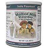 Soda Fountain Malted Milk Powder 2.5 Lb. Canister (Pack of 6)