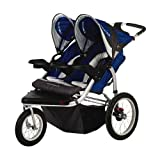 Schwinn Turismo Swivel Double Jogger, Blue/Gray