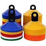 World Sport Disc Cone Sets (50 or 100 Multi Color / 50 or 100 Half Orange Half Yellow)