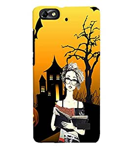 Fuson Haunted Girl Back Case Cover for HUAWEI HONOR 4C - D4099