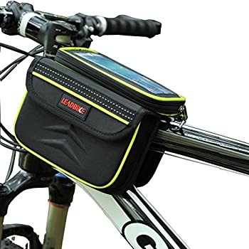 Waterpoof Frame Front Tube Pannier Bike Bicycle Cycling Saddle Bag by DRUnKQUEEn® with Detachable CellPhone Case Touchscreen Pouch Holder & Reflective Stripe by DRUnKQUEEn