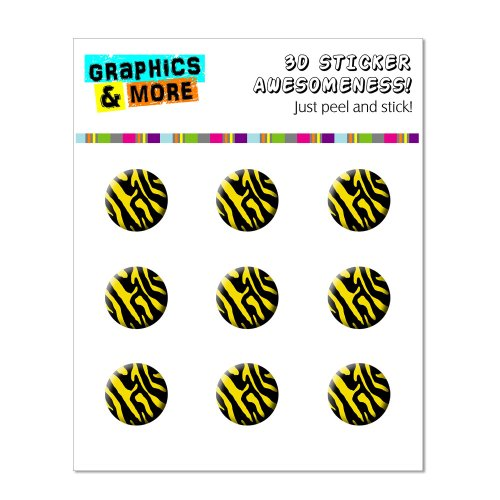 Graphics and More Zebra Print Black Yellow Home Button Stickers Fits Apple iPhone 4/4S/5/5C/5S, iPad, iPod Touch - Non-Retail Packaging - Clear