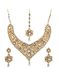 Shahenaz Jewellers 24 Ct Gold Plated Bridal Jewellery Set For Women - B00R2IORGG