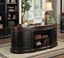 Hot Sale Nicholas Office Desk in Two Tone Finish - Coaster 800921