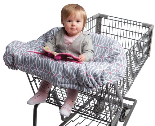 Best Review Of Boppy Shopping Cart and High Chair Cover, Park Gate Pink
