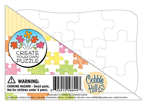 Cobble Hill Create Your Own Puzzle - Postcard Size Jigsaw Puzzle, 12-Piece - 1