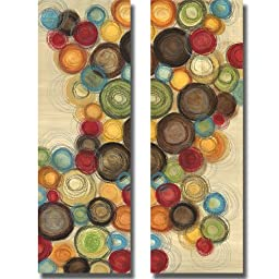 Wednesday Whimsy I & II by Jeni Lee 2-pc Premium Stretched Canvas Set (Ready-to-Hang)