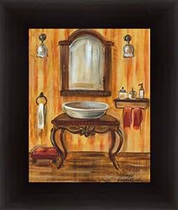 Tuscan bath ii by silvia vassileva for Bathroom paintings amazon