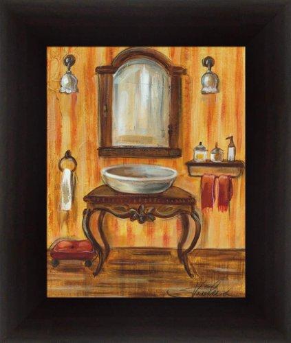 Tuscan bath ii by silvia vassileva bath wall art print framed