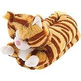 Orange Tabby Cat Animal Slippers for Women and Men
