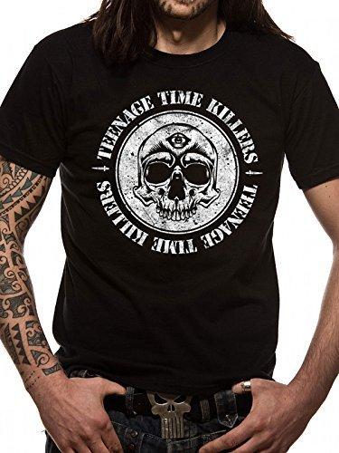 CID TEENAGE TIME KILLERS - SKULL-T-shirt  Uomo    Nero XX-Large