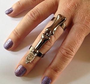 grufti punk rock skelett ganzer finger diamant nagel knuckle ring. Black Bedroom Furniture Sets. Home Design Ideas