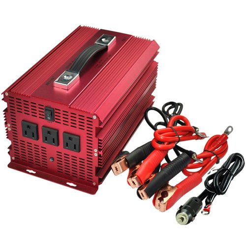 Bestek® 2000W Power Supply 12Vdc To 110Vac Inverter Power Backup Outdoor Power Supply Home For Flood Light,Blender,Vacuum,Refrigerator,Microwave Oven,Electric Circular Saw,Chainsaw,Well Water Pump Ect.Mri20011