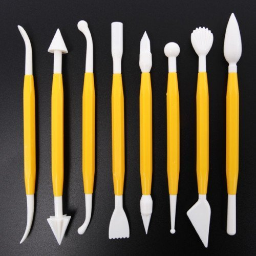 Cake Decorating Sugarcraft Modelling Tool Kit 8 Pieces