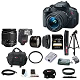 Canon EOS Rebel T5i 18.0 MP CMOS Digital Camera with EF-S 18-55mm f 3.5-5.6 IS STM Zoom Lens - Automatic Bounce and Swivel TTL Flash - Telephoto & Wide Angle Lenses - and Deluxe Accessory Kit