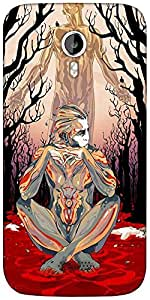 Snoogg Thinker'S Soul Designer Protective Back Case Cover For Micromax A116