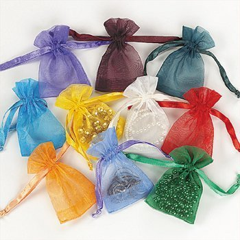Mini Organza Drawstring Bags (50 pc)