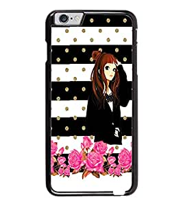 PrintDhaba Beautiful Girl D-1118 Back Case Cover for APPLE IPHONE 6 (Multi-Coloured)