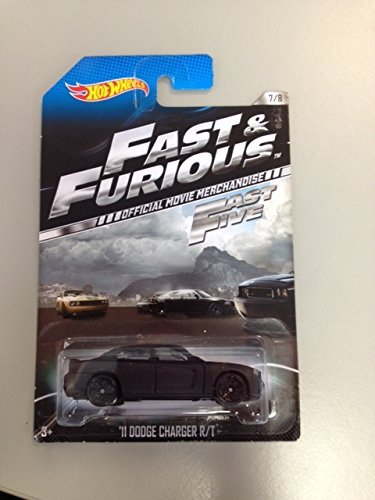 Hot Wheels Fast & Furious Fast 5 Official Movie Merchandise '11 Dodge Charger R/T 7/8 - 1