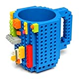 Elstey Creative DIY Lego Readily Cup Assembly Mug Building Blocks Coffee Drink Tea Cup (blue)
