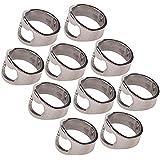 Stainless Steel Finger Ring Bottle Opener Lightweight Pack of 10