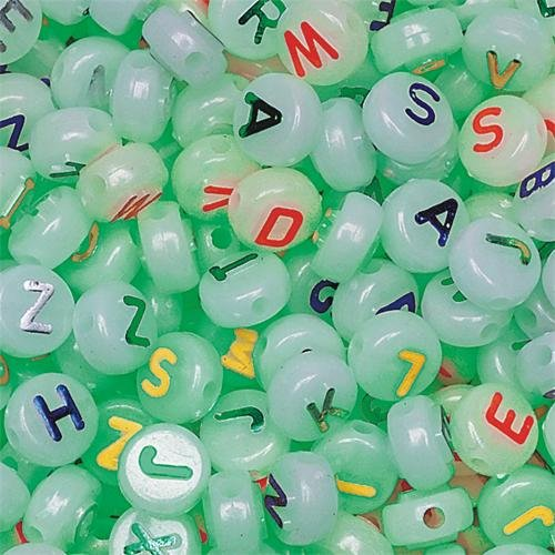 S&S Worldwide Glow in the Dark Beads, 1/2-Lb (Bag of 600)