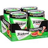 Trident Unwrapped Sugar Free Gum (Watermelon Twist, 50-Piece, 4-Pack) (Tamaño: 200 Pieces)