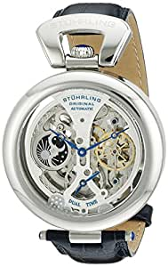Stuhrling Original Men's 127A.3315C2 Special Reserve Emperor's Grandeur Automatic Stainless Steel Skeleton Watch with Blue Leather Band