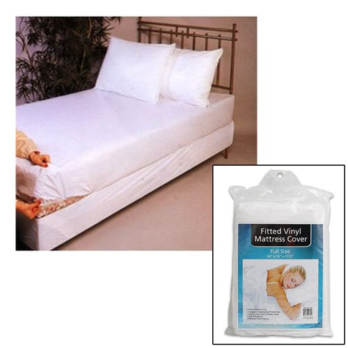 Full Size Bed Mattress Cover Plastic White Waterproof Bug Protector Mites Dust front-508443