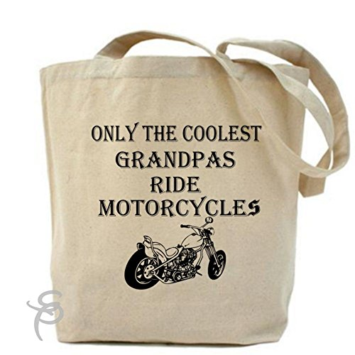 Only The Coolest Grandpas Ride Motorcycles Bike Tote Bag