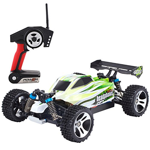 Metakoo 1:18 Scale Off Road 100M Remote Control 4WD High Speed 70km/h Fast Race Truck 2.4GHz Electric Fast Buggy Hobby Car-Green (Electric Buggy compare prices)